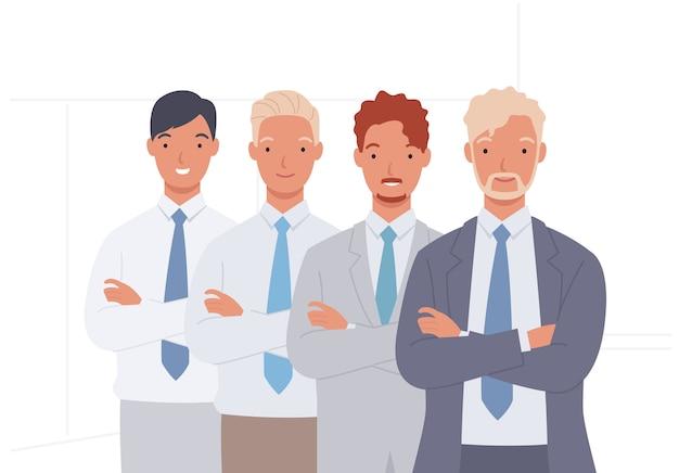 Commercieel team. groep zakenman, teamwork.