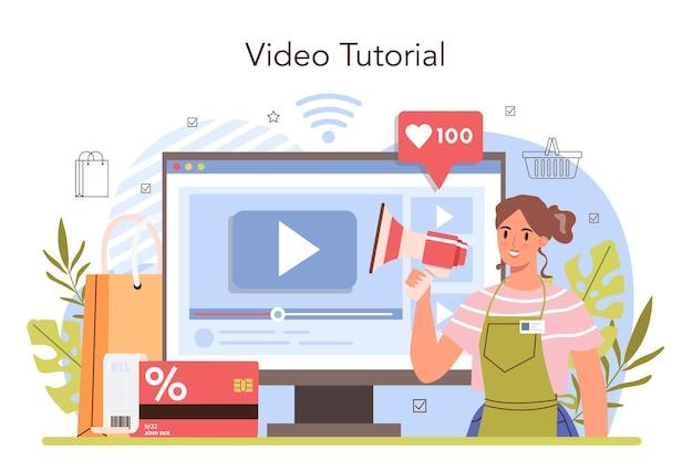Commerciële activiteiten verwerken online service of platform