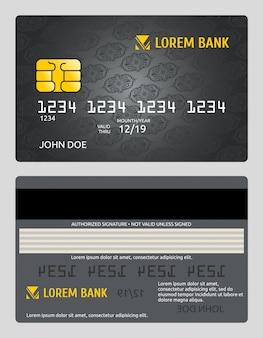 Commerciële bank creditcard sjabloon