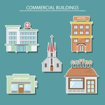Commerciële gebouwen ontwerp