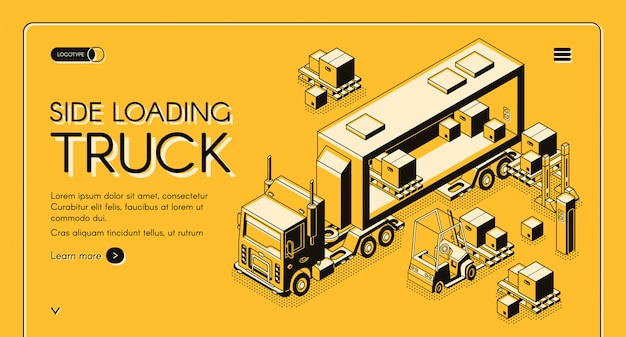 Commerciële vrachtbezorgingswebpagina
