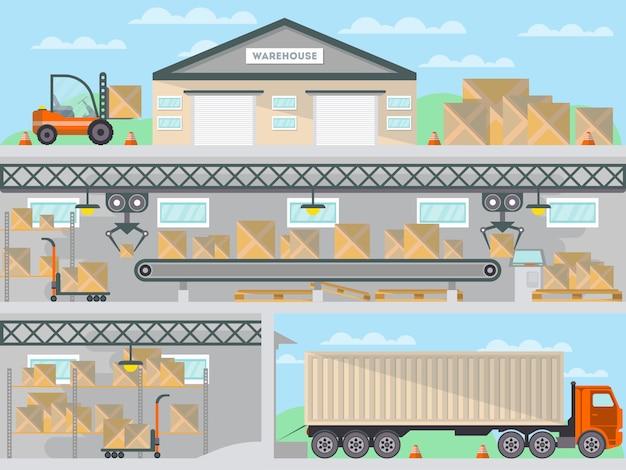 Commerciële vrachtdienst zakelijke banner