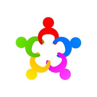 Communautaire vakbondsondersteuning op de witte achtergrond. vector illustratie