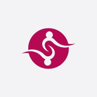 Communautaire zorg en adoptie logo vector sjabloonpictogram