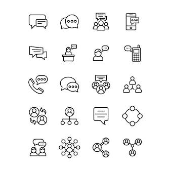 Communicatie-, chat- en berichtenlijn