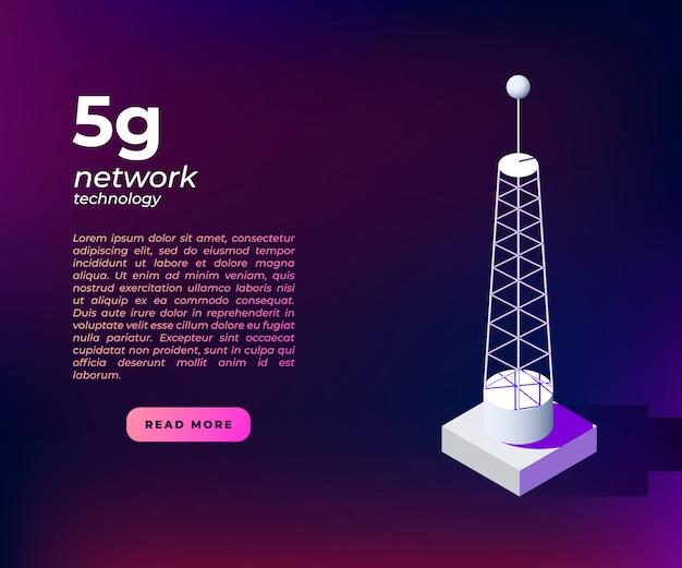 Communicatie draadloze toren netwerk banner