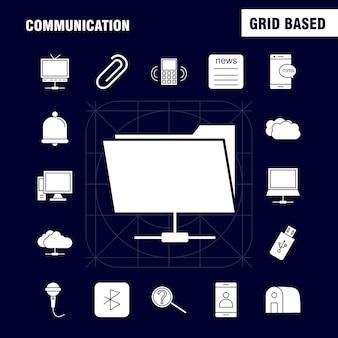 Communicatie glyph-pictogram