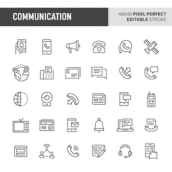 Communicatie icon set