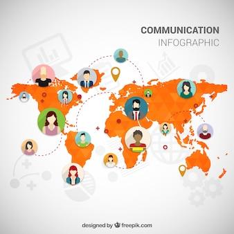 Communicatie infographic