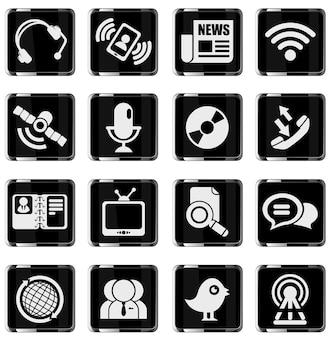 Communicatie pictogrammen. gewoon symbool voor webpictogrammen