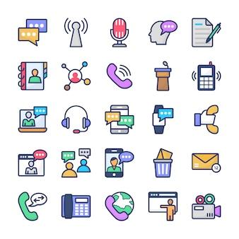 Communicatie pictogrammen pack