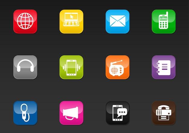 Communicatie professionele webpictogrammen voor uw ontwerp