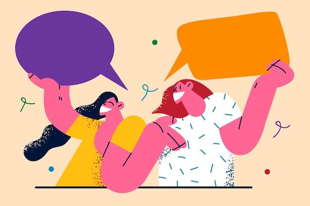 Communicatie toespraak chat illustratie