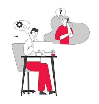 Communicatie tussen operator en klant via hotline