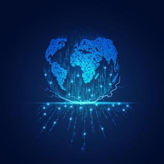 Communicatietechnologie of iot-achtergrond