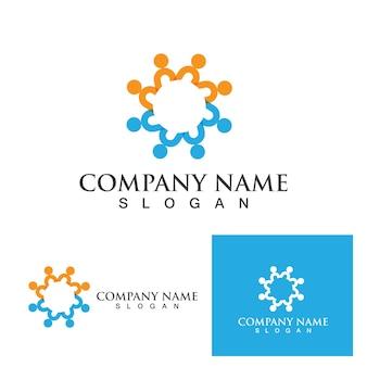 Community mensen logo netwerk en sociaal icoon