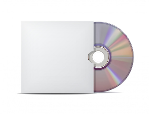 Compact disc met deksel.