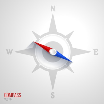 Compass icon illustration