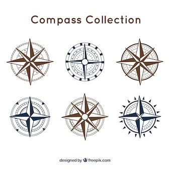 Compass-pakket van zes