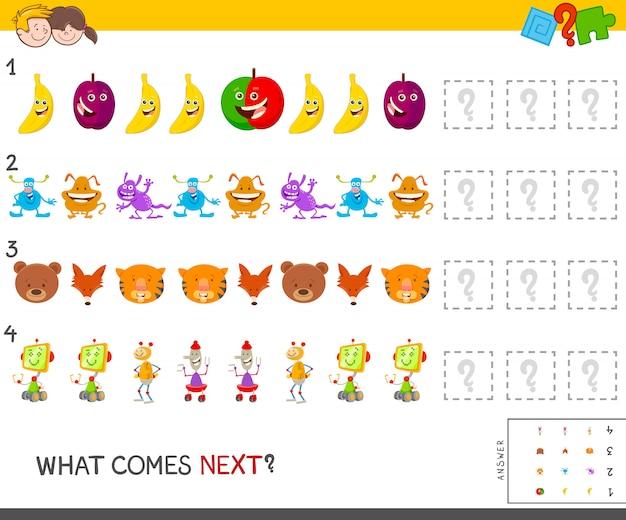 Compleet patroon educatief spel voor kinderen