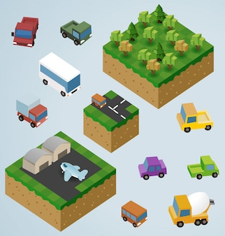 Complete isometric tiles-serie
