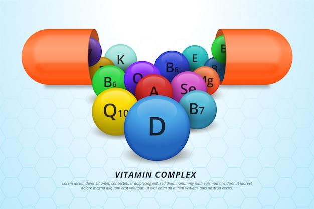 Complex van vitamines en mineralen