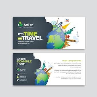 Complimentenkaart voor reizen