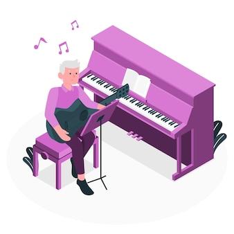 Componeer muziek concept illustratie