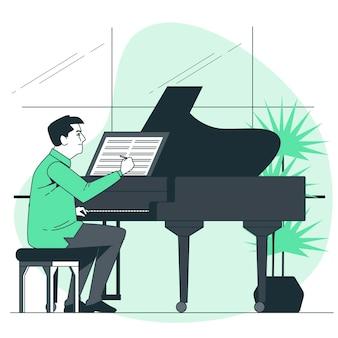 Componist concept illustratie