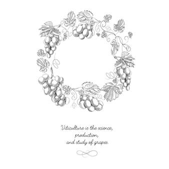 Compositie met druivenvoorwerpen waaronder bes