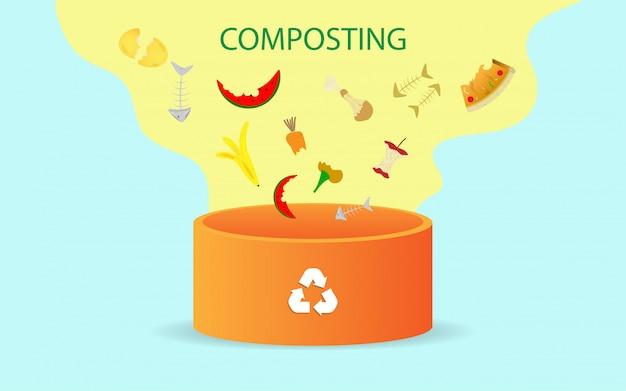Compostering illustratie concept