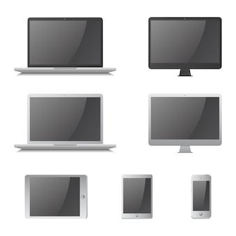 Computer apparaat vector grafische kunst ontwerp illustratie