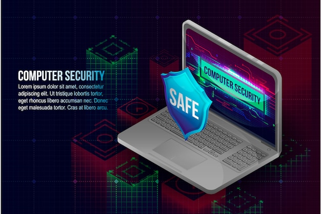 Computer beveiliging concept achtergrond