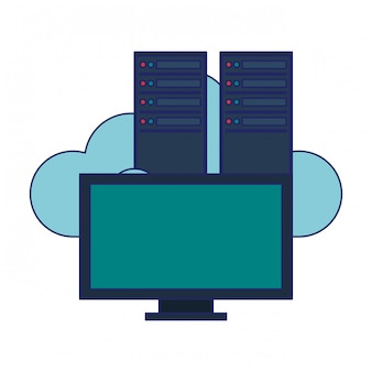 Computer en servers cloud computing