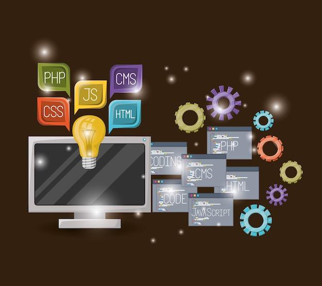 Computer en versnellingen mechanisme