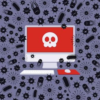 Computer gevangen genomen door virussen