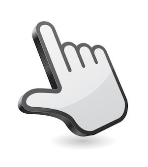 Computer handaanwijzer cursor 3d