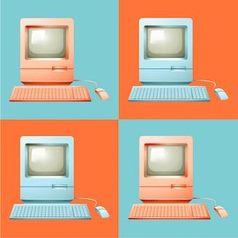 Computer in pop-art