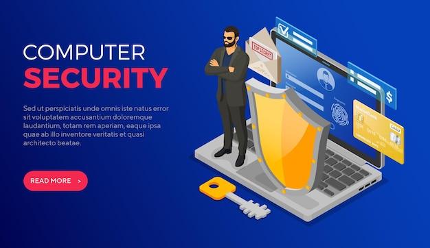 Computer internet persoonlijke gegevensbeveiliging bescherming