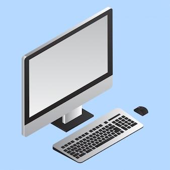 Computer met toetsenbord