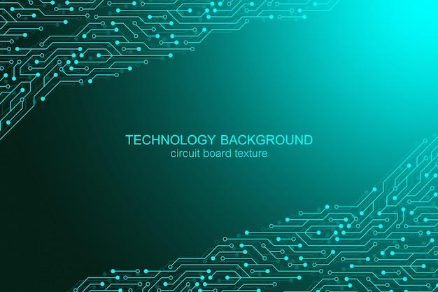 Computer moederbord achtergrond met printplaat elektronische elementen