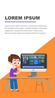Computer onderwijs platform