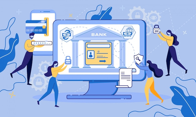 Computer online banking account toegangsbescherming