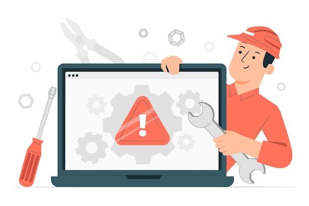 Computer probleemoplossing concept illustratie
