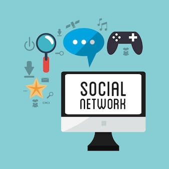 Computer sociale netwerk game chat