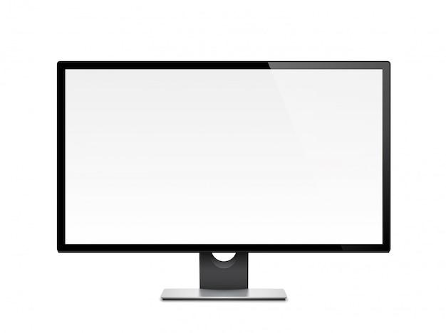 Computerdisplay, monitor, realistisch, 3d, geïsoleerd