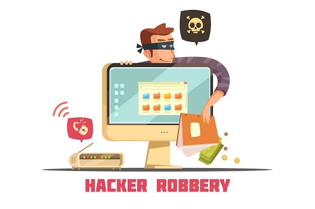 Computerhakker breken beveiligingscode toegang tot bankrekening en stelen van geld