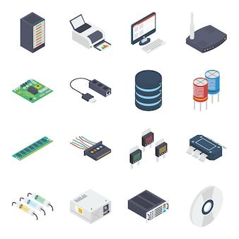 Computerhardware isometrisch pakket