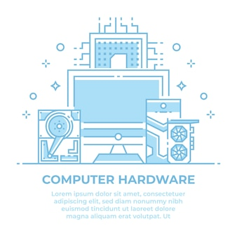 Computerhardware lineair ontwerp