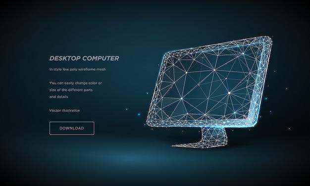 Computermonitor hi-tech illustratie.